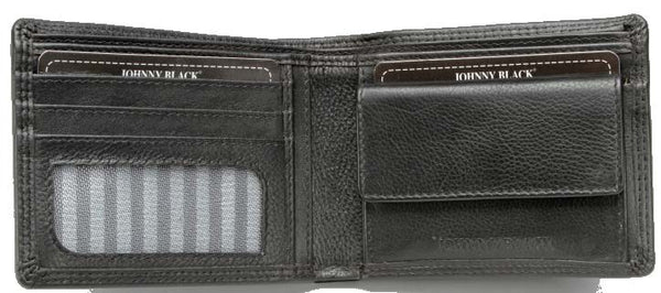 Johnny Black Chicago 4CC Leather Wallet - RFID | Black - KaryKase
