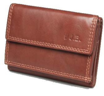 Johnny Black Bavaria Mini Tri-fold Leather Wallet - RFID | Brown - KaryKase