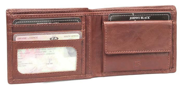 Johnny Black Bavaria Mini 4CC Leather Wallet - RFID | Brown - KaryKase