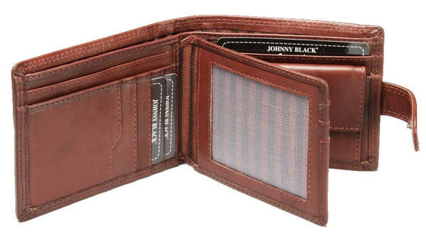 Johnny Black Bavaria 10CC Bi-fold Leather Wallet - RFID | Brown - KaryKase