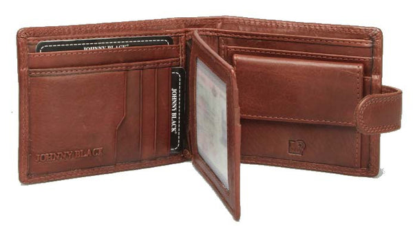 Johnny Black Bavaria Mini 10CC Leather Wallet - RFID | Brown - KaryKase