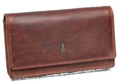 Monroe Bavaria Leather Ladies Clutch Purse | Brown - KaryKase