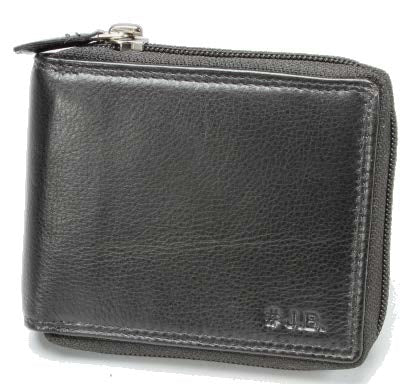 Johnny Black Chicago Zip Around Leather Wallet - RFID | Black - KaryKase