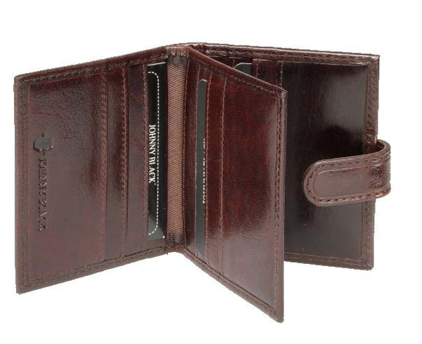 Johnny Black Berlin Leather Credit Card Holder | Brown - KaryKase