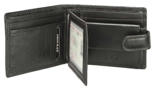 Johnny Black Chicago 9CC Bi-fold Leather Wallet - RFID | Black - KaryKase