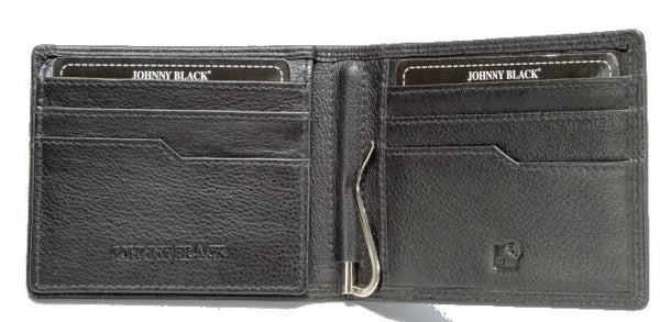 Johnny Black Chicago Money Clip Leather Wallet - RFID | Black - KaryKase