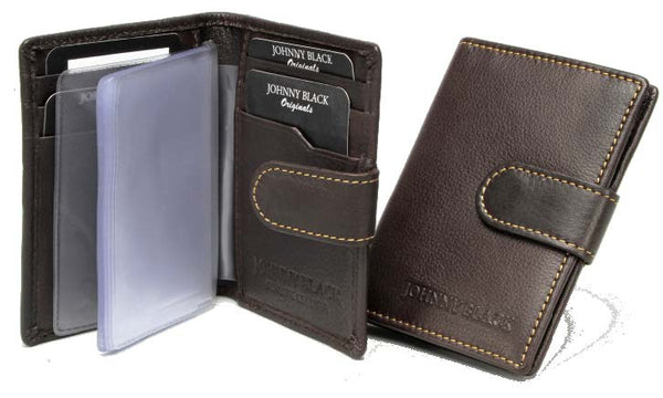 Johnny Black Antique Leather Credit Card Holder | Brown - KaryKase