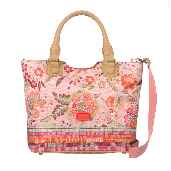 Oilily Ladies Handbag With Removable Strap | Peach