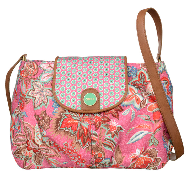 Oilily Ladies Flap Shoulder Bag (M) | Rose - KaryKase
