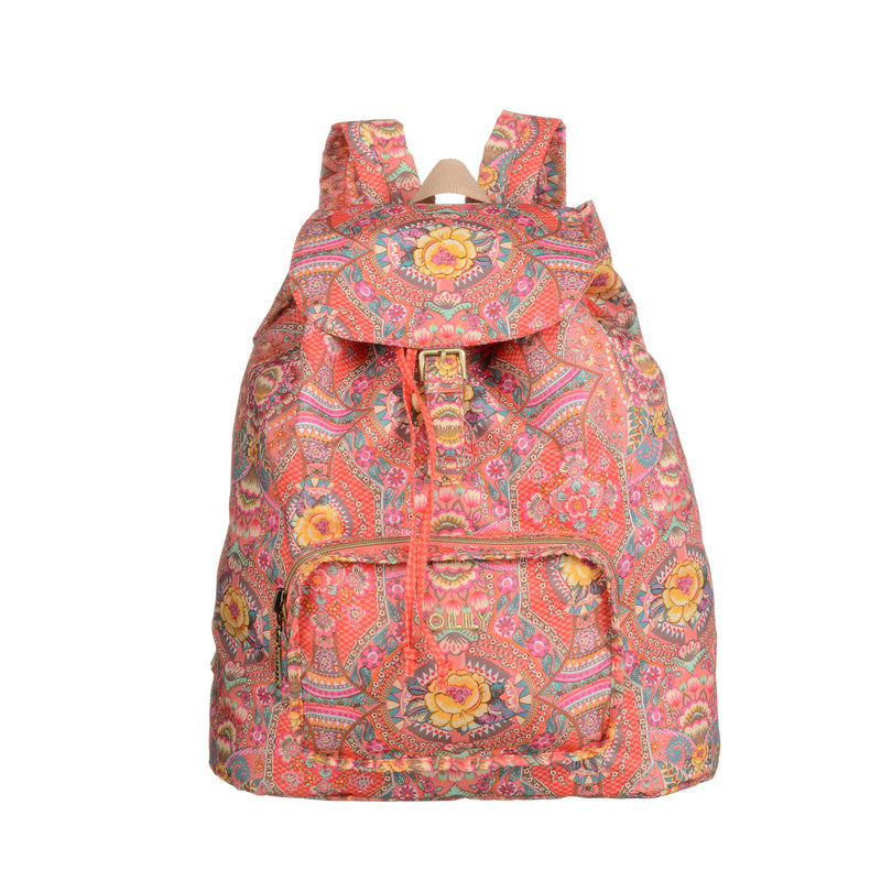 Oilily Ladies Folding Backpack | Coral