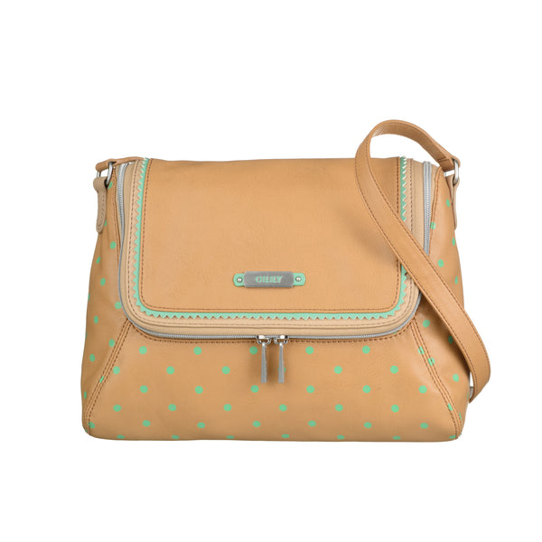Oilily Ladies Doted Shoulder Bag (M) | Tan
