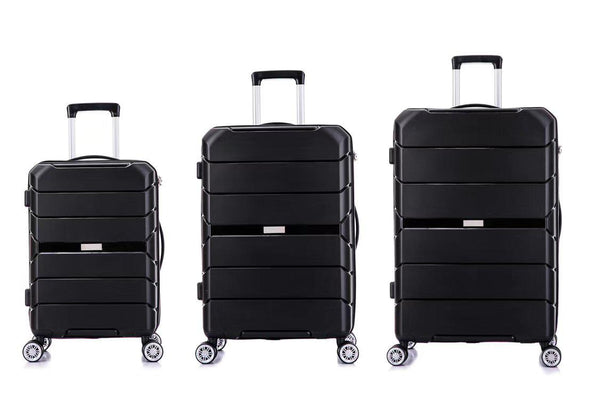 Tosca Rogue 3 Piece Luggage Trolley Set | Black