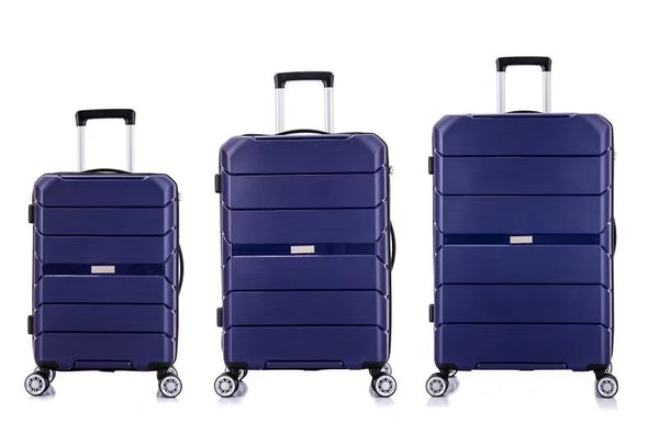 Tosca Rogue 3 Piece Luggage Trolley Set | Navy - KaryKase