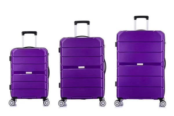 Tosca Rogue 3 Piece Luggage Trolley Set | Purple - KaryKase