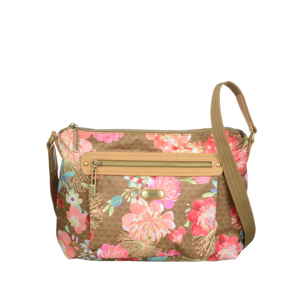 Oilily Ladies Flat Shoulder Bag (M) | Gold - KaryKase