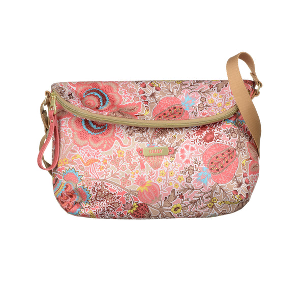 Oilily Ladies Flat Shoulder Bag (M) | Coral - KaryKase