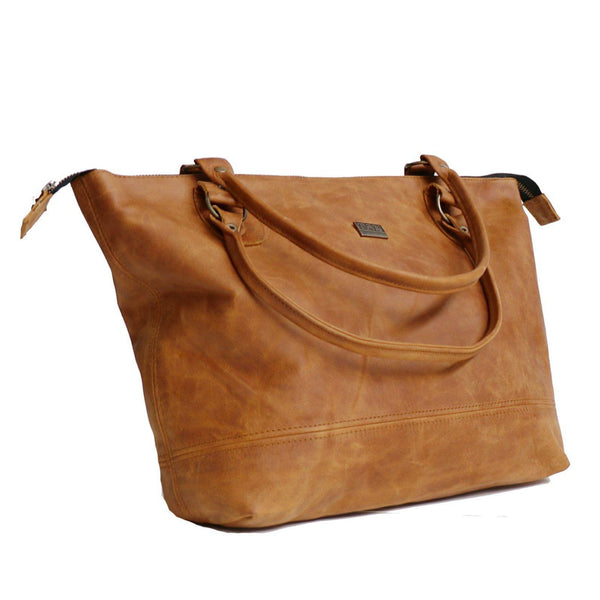 Tan Leather Goods - Daisy Leather Handbag | Toffee - KaryKase