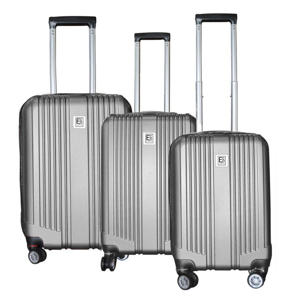 Eco Earth Paris Pro 3 Piece Luggage Set | Silver