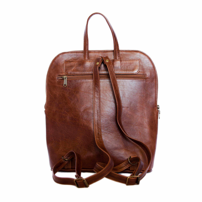 Mally Traveler Leather Backpack | Brown - KaryKase
