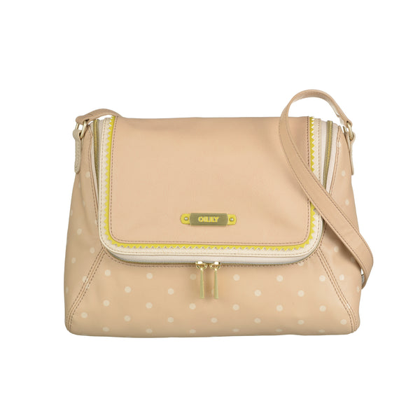 Oilily Ladies Doted Shoulder Bag (M) | Nude