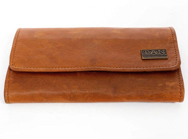 Tan Leather Goods - Lauren Leather Ladies Wallet | Toffee - KaryKase
