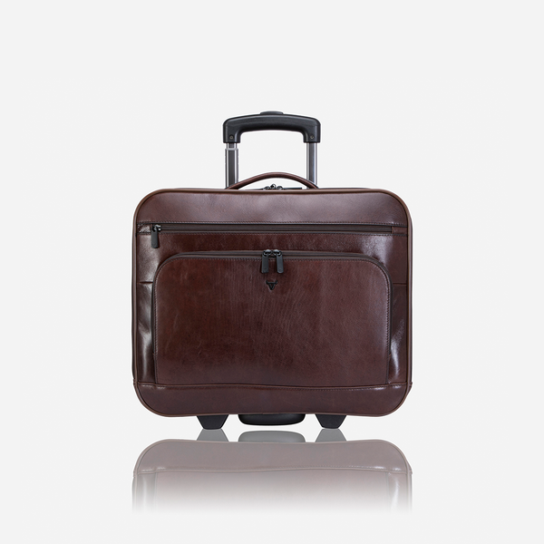 "Brando Winchester 17"" Leather Laptop Trolley Bag 
