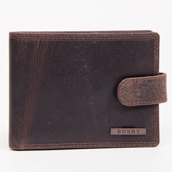 Busby Leather Ranch II Billfold With Tab Card Slots | Brown - KaryKase