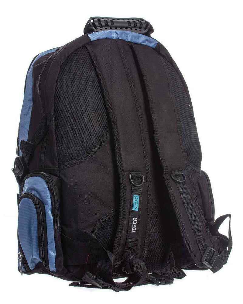 Tosca Large Laptop Backpack | Black/Blue - KaryKase