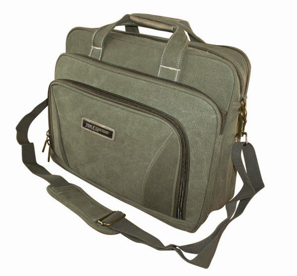 "Tosca Canvas 15"" Laptop Briefcase 