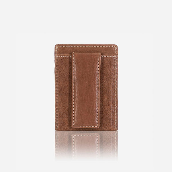 Brando Asher Leather RFID Cardholder Money Clip | Brown - KaryKase