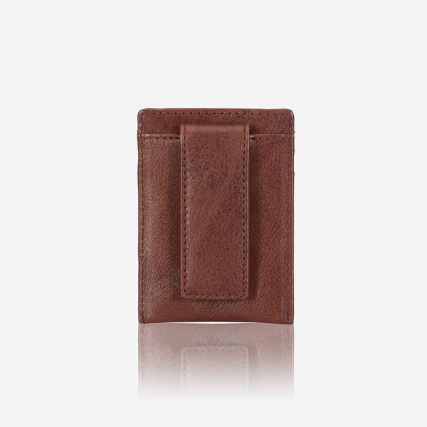 Brando Vintage RFID Money Clip Leather Cardholder | Brown - KaryKase