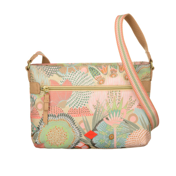 Oilily Ladies Flat Shoulder Bag (M) | Peach Rose