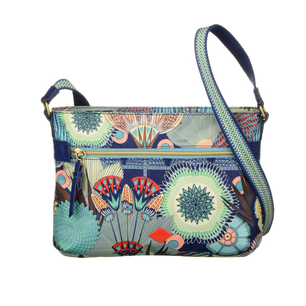 Oilily Ladies Flat Shoulder Bag (M) | Lagoon