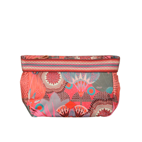 Oilily Medium Cosmetic Pouch | Raspberry - KaryKase