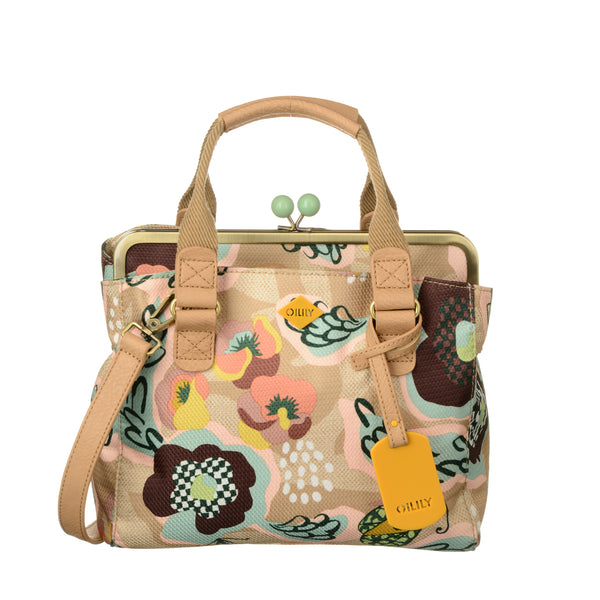 Oilily Ladies Frame Handbag | Biscuit