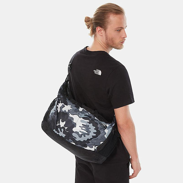 The North Face Flyweight Foldable Duffel | Tnf Black Psychedelic Print / Tnf Black