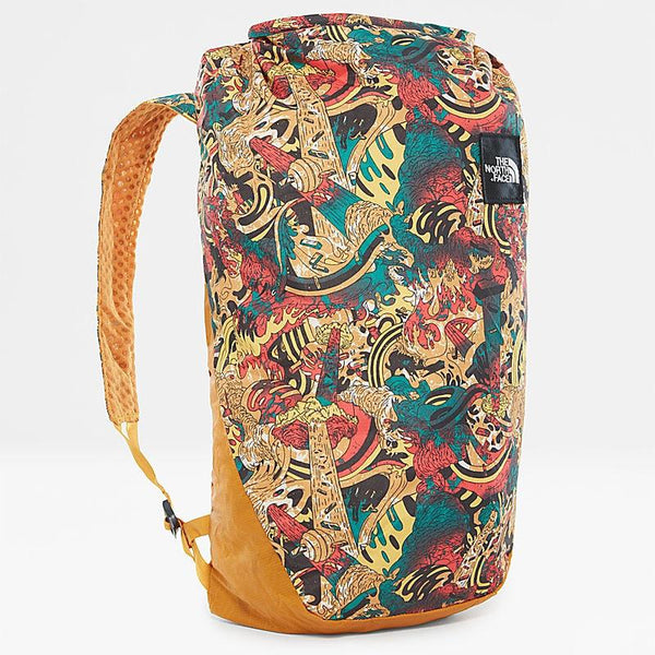 The North Face Flyweight Rolltop Foldable Backpack | Leopard Yellow Genesis Print / Citrine Yellow