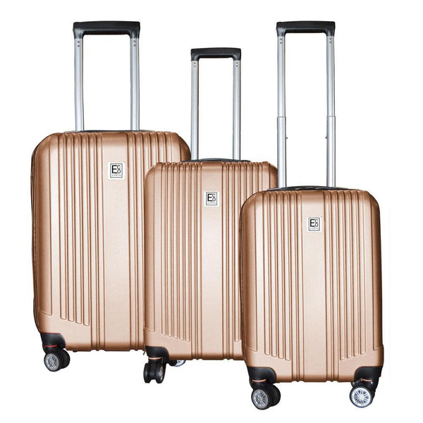 Eco Earth Paris Pro 3 Piece Luggage Set | Gold