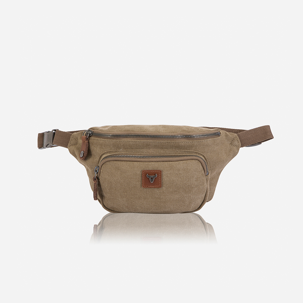 Brando Canvas Compact Waist Bag | Green - KaryKase
