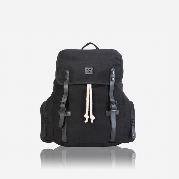 Brando Canvas Shift Everyday Backpack | Black - KaryKase