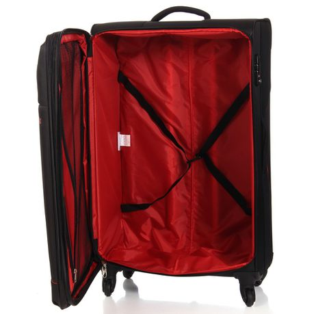 American Tourister Sky 82cm Large Spinner - Expandable | Black/Red