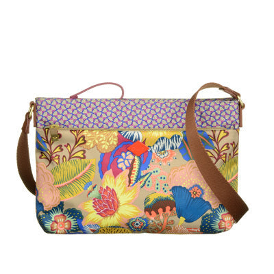 Oilily Kiwano Ladies Flat Shoulder Bag | Nougat