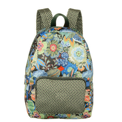 Oilily Kiwano Ladies Folding Backpack | Black Ink