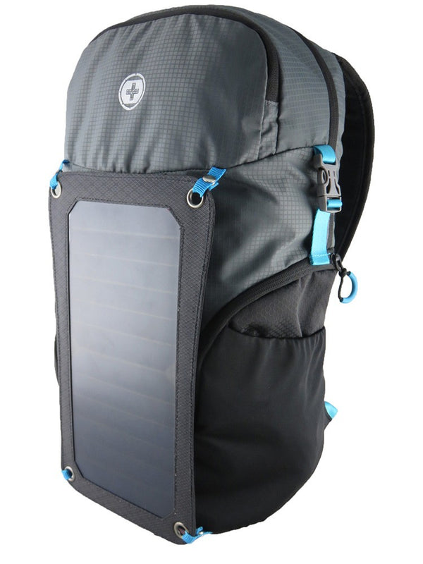 Swiss Digital Solar Charging Adventure Backpack | Black/Grey - KaryKase