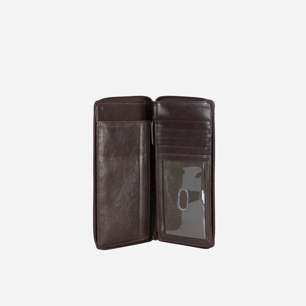 Brando Cooper Large Leather Travel Wallet | Brown - KaryKase