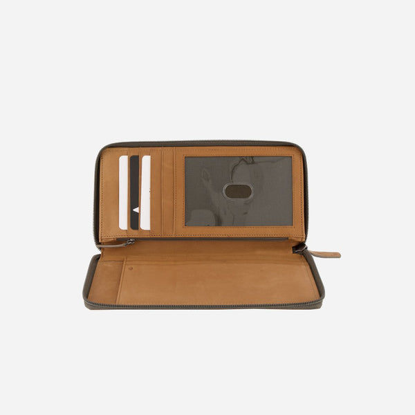 Brando Cooper Large Leather Travel Wallet | Tan - KaryKase