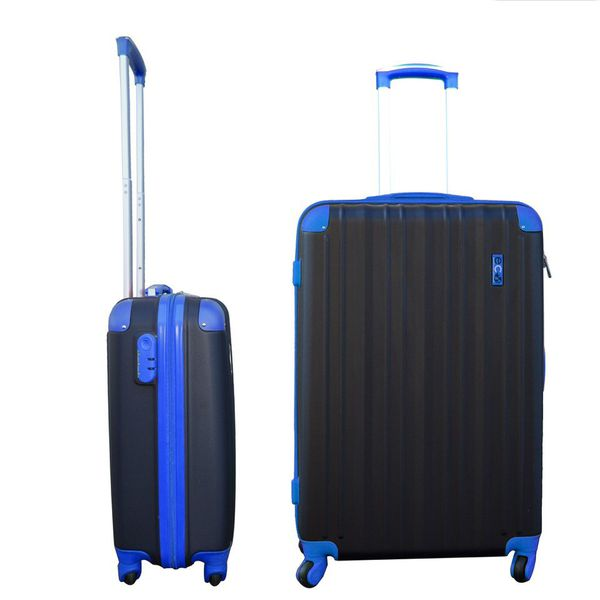 Eco Earth San Juan 2 Pc ABS Luggage Set | Black/Blue - KaryKase