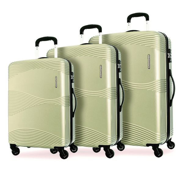 Kamiliant Teku Luggage Set | Light Gold - KaryKase