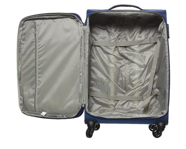 Pierre Cardin Ultralite 4 Wheel 67cm Medium Spinner | Blue - KaryKase