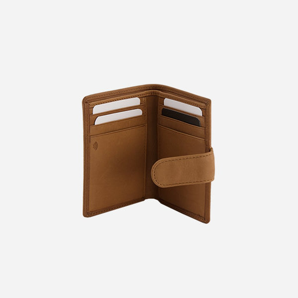 Brando Cooper Multi Card Wallet With Tab | Tan
